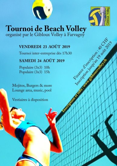 Image Inscription - Tournoi de Beach Volley 2019